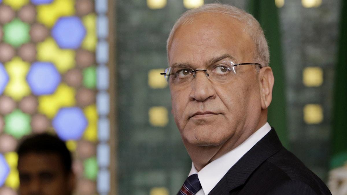 Palestinske chefsförhandlaren Saeb Erekat