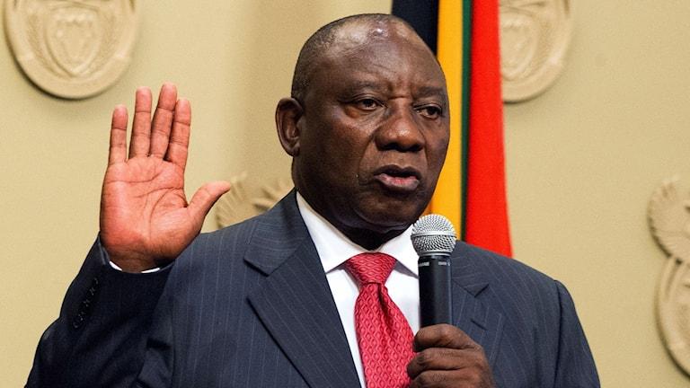 Ramaphosa ny president i Sydafrika