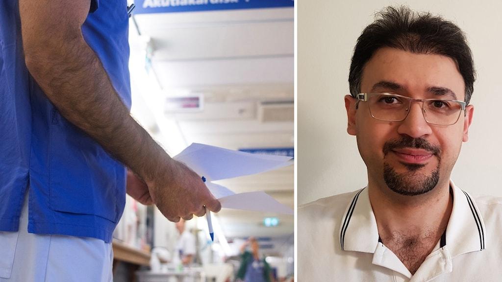 Ammar Aziz har utbildat sig till läkare i Irak och försöker nu få en svensk läkarlegitimation.
