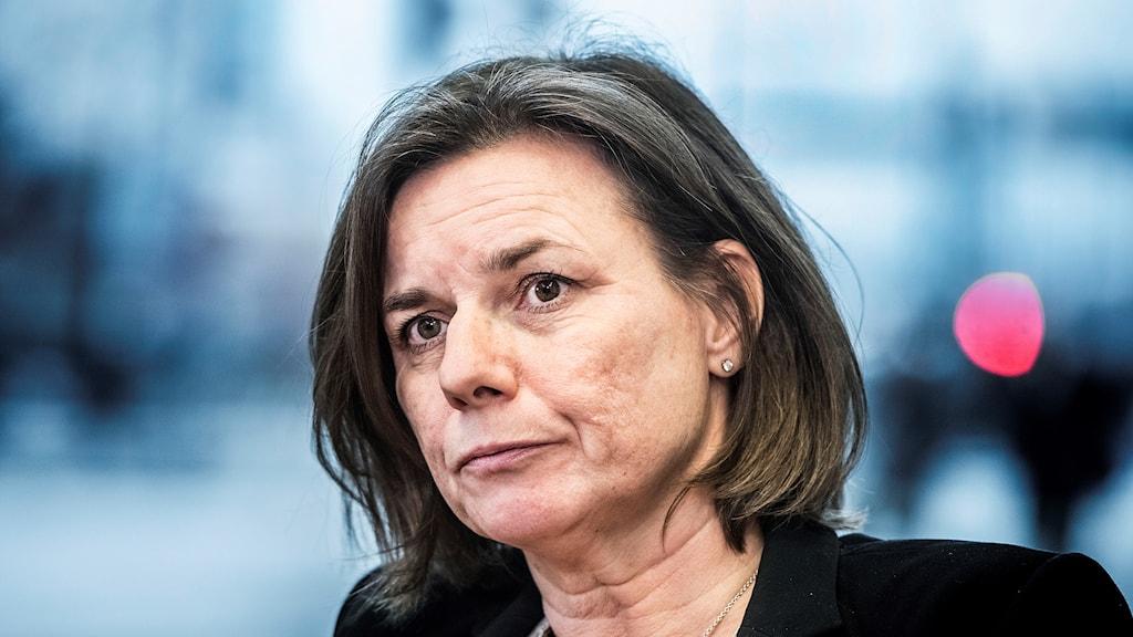Isabella Lövin, språkrör för Miljöpartiet