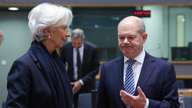 Christine Lagarde och Olaf Scholz.