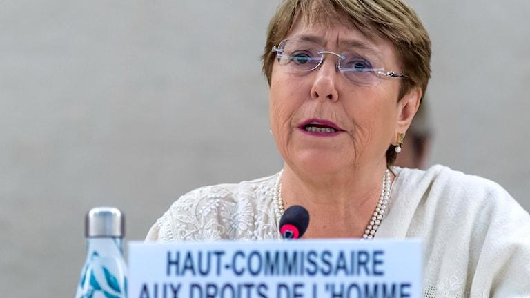 Rapporten presenterades av FN:s högkommissarie för mänskliga rättigheter Michelle Bachelet.