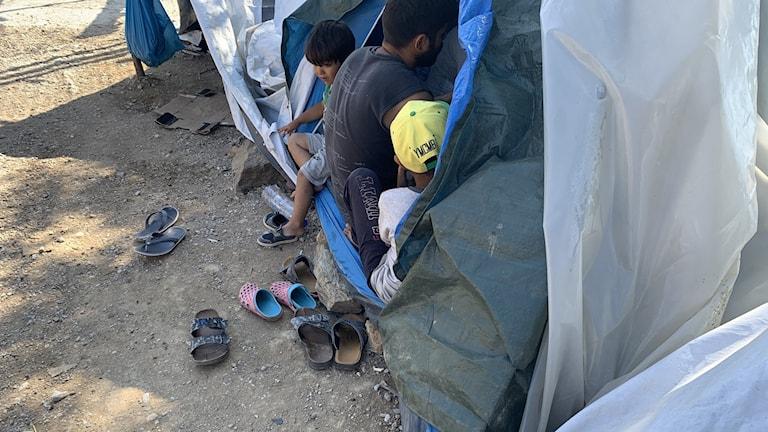 Flyktingläger på Lesbos. Foto: Alice Petrén.