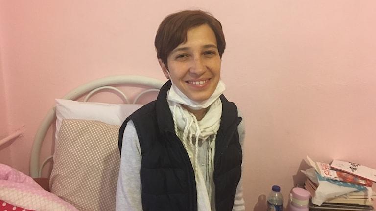 Hungerstrejkande turkiska Nuriye Gülmen