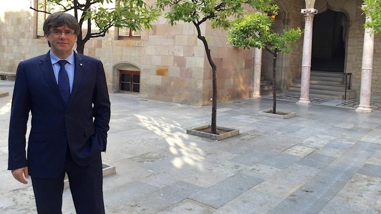 Carles Puigdemont  president of the autonomous region of Catalonia.