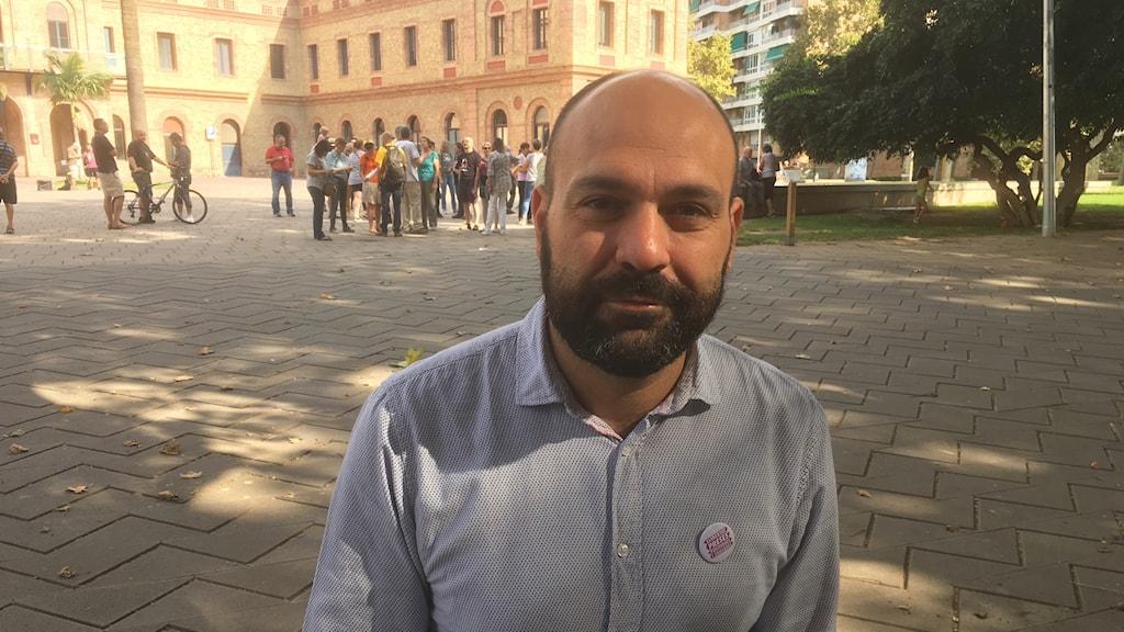 Marcel Maurí är vice ordförande för kulturföreningen Òmnium Cultural, vars ordförande är frihetsberövad misstänkt för våldsamt uppror.