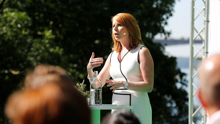 Centerpartiets partiledare Annie Lööf