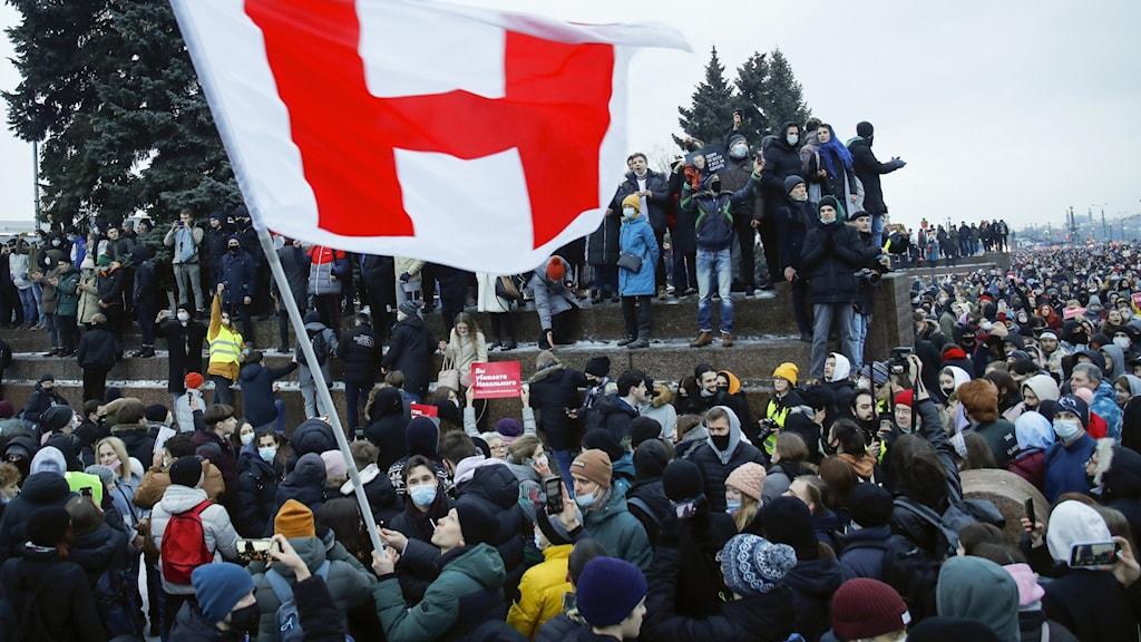 Protester i Moskva.