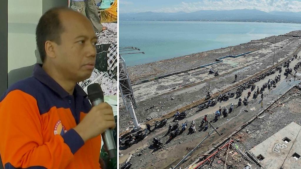 Sutopo Purwo Nugroho, talesperson på Indonesiens katastrofmyndighet.