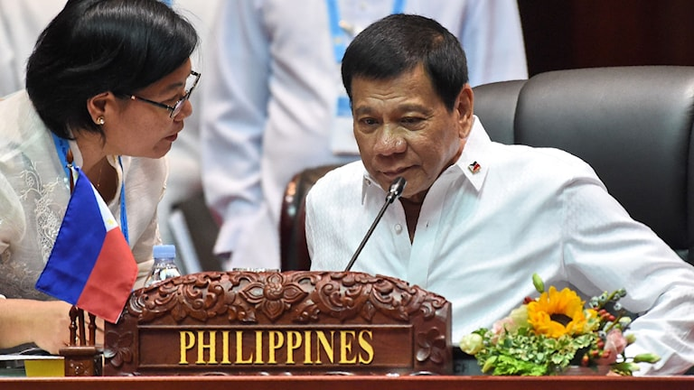 Rodrigo Duterte. Foto: Roslan Rahman/TT.