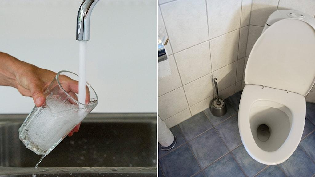 vattenkran och toalett
