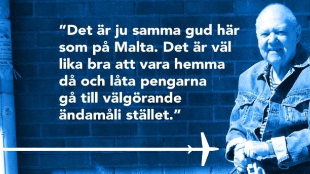 Församlingsmedlemmen Gunnar Henriksson i Trångsund om Huddinge pastorats Malta-resa för 800 000 kronor. Foto: Sveriges Radio
