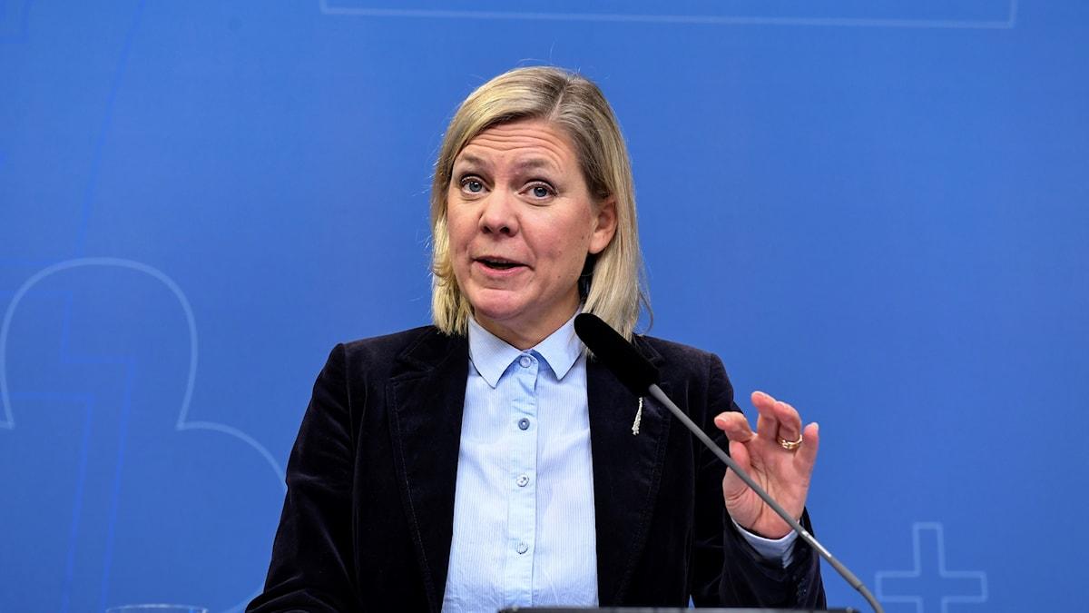 Finansminister Magdalena Andersson