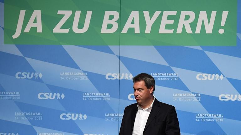 Markus Söder, ledare för CSU i Bayern.
