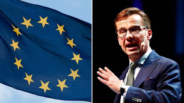 Moderaternas partiledare Ulf Kristersson höll under onsdagen ett linjetal om EU och asylpolitiken.