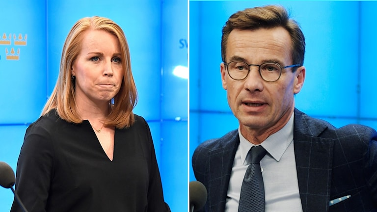 Annie Lööf (C) och Ulf Kristersson (M)