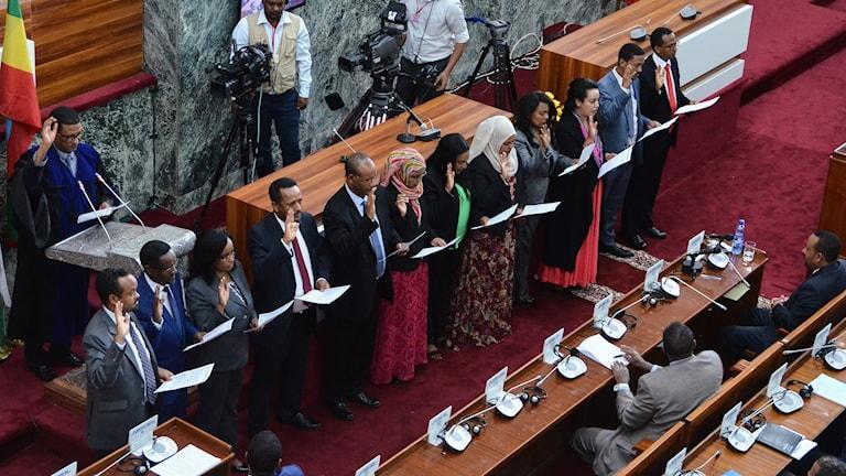 Etiopiens nya regering.