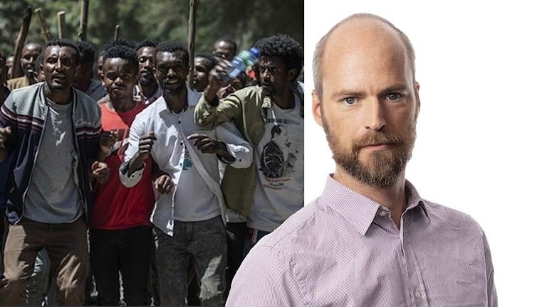 Samuel Larsson, Ekots korrespondent i Afrika.