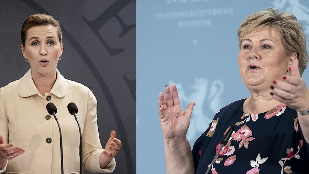 Erna Solberg Mette Fredriksen