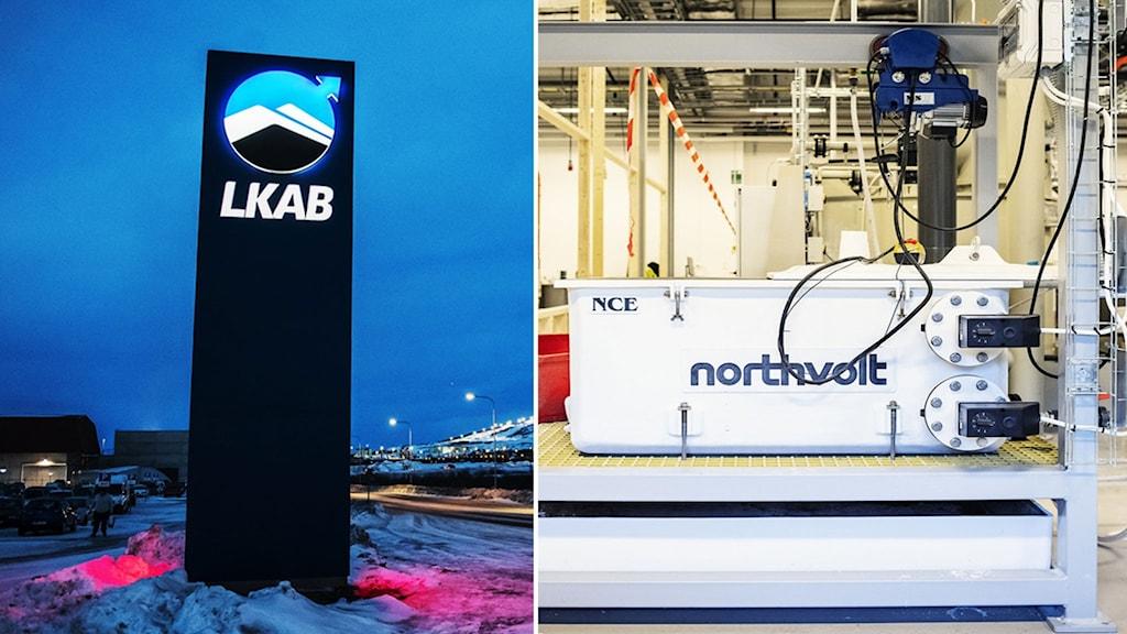 LKAB och Northvolts loggor.