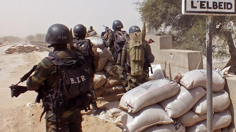 Kamerunska soldater.