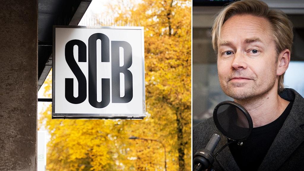 SCB på Karlavägen och Ekots inrikespolitiske kommentator Fredrik Furtenbach.