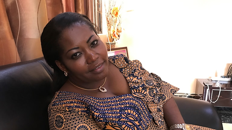 Advokaten Lily Lumbulumbu i Goma vill se fler kvinnor i ledningen Foto Alice Petren/SR