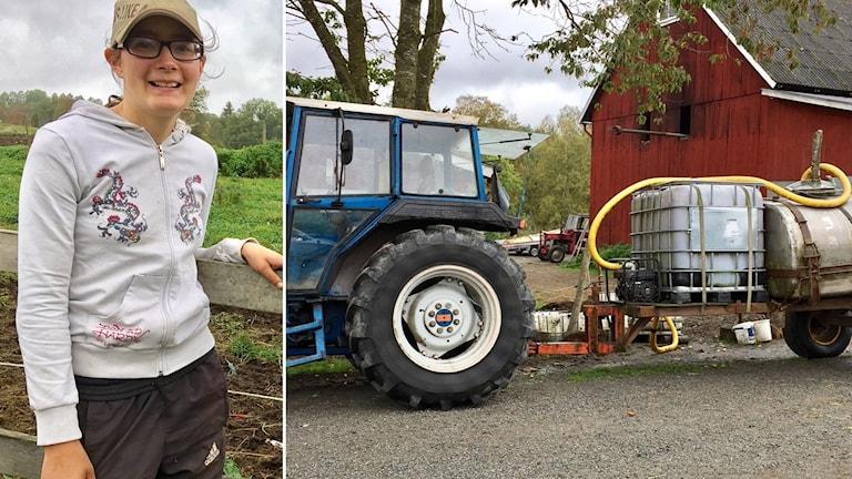 Sanna Andersson, Hultsjö Prästgård hämtar vatten från sjön