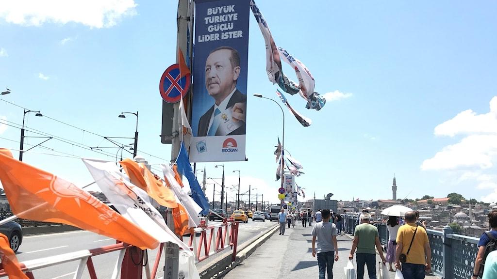 Valaffisch med Erdogan