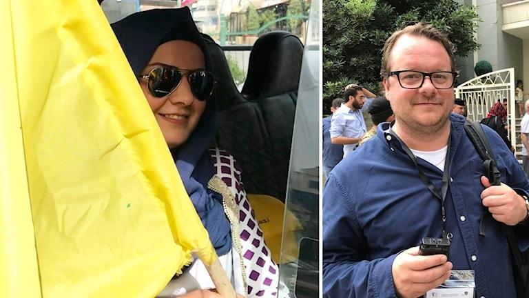 Ekots Johan-Mattias Sommarström har träffat Ghida som röstar på Hizbollah.