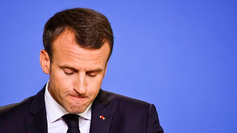 Frankrikes president Macron.