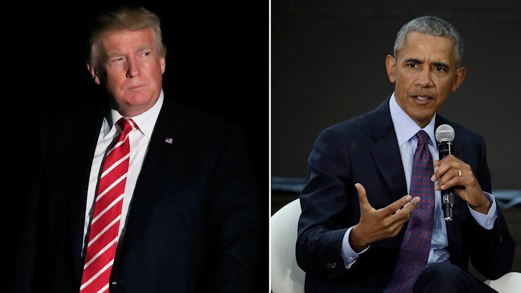 Trump och Obama