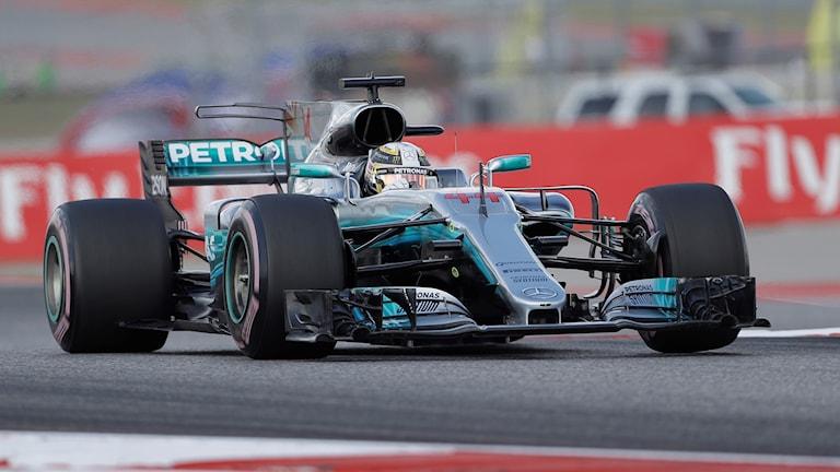 Mercedesföraren Lewis Hamilton vann VM-deltävlingen i Austin, USA.