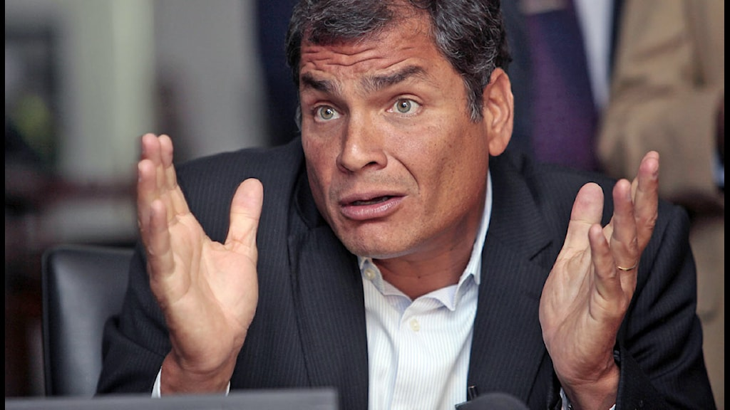 Ecuadors president Rafael Correa. Foto: Dolores Ochoa/Scanpix.