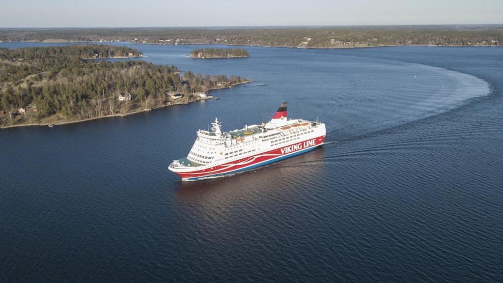 Finlandsfärja på Östersjön.
