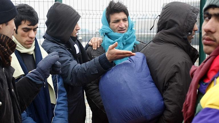 Invandrare i Calais. Foto: Michel Spingler/Scanpix.