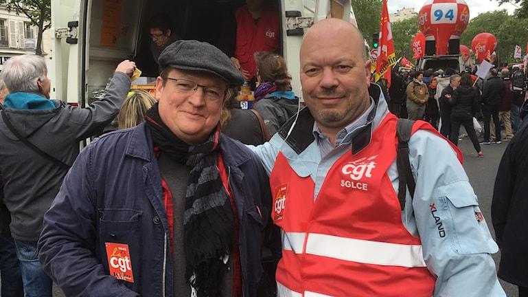 Fransmännen Jean Philippe Marechal och Didier Lourdèze.