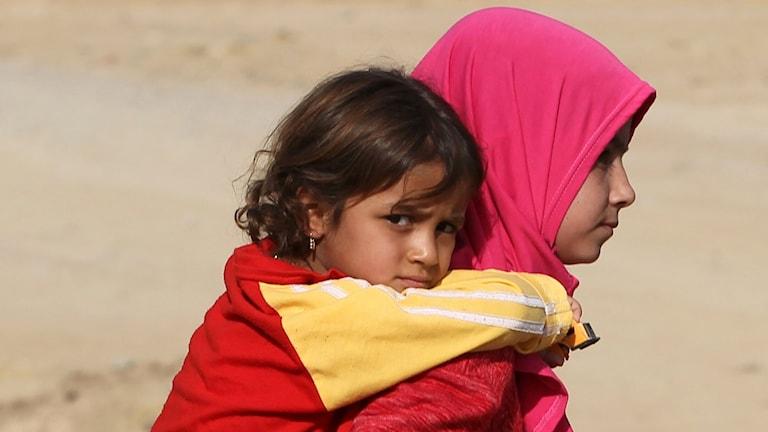 Barn i Irak.