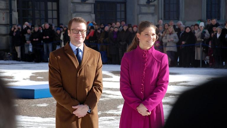 Kronprinsessan Victoria och Daniel Westling. Foto: Bengt Hansell/ SR.