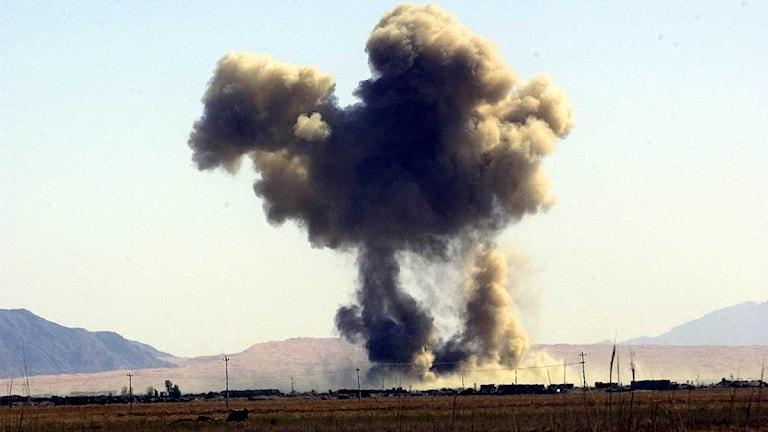 Explosion i Kandahar. Foto: Adam Butler/Scanpix.