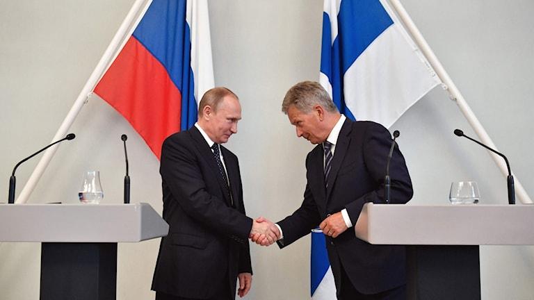 Vladimir Putin och Sauli Niinistö