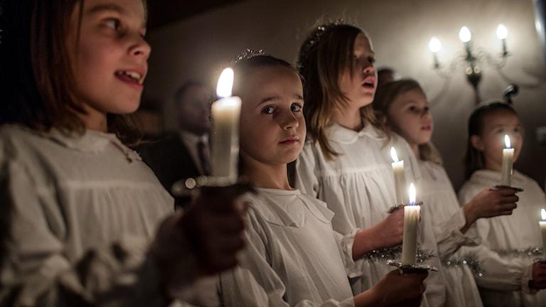 Luciatåg. Foto: Stian Lysberg Solum /TT