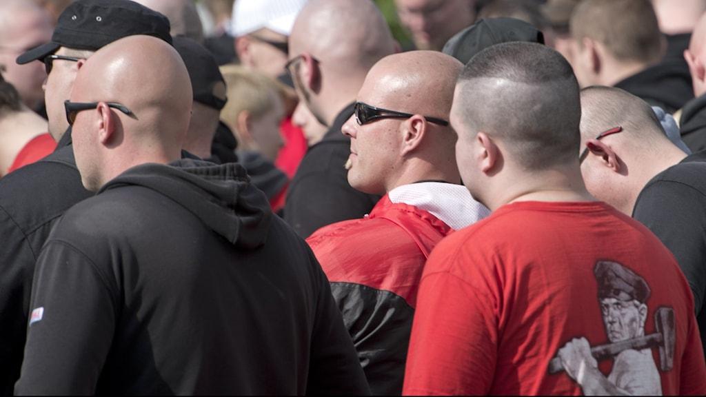 Arkivbild. Högerxtrem demonstration den 1 maj i staden Plauen.