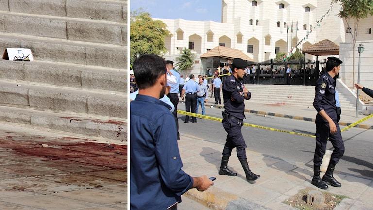 Domstolsbyggnaden utanför vilken Nahid Hattar mördades