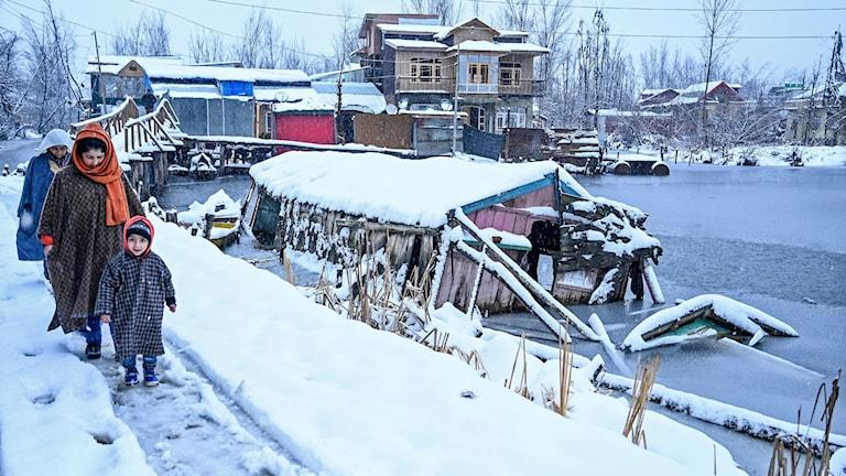 Kashmir snö