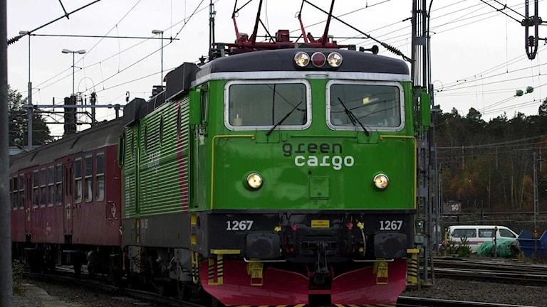 Statliga tågtransportföretaget Green Cargo märker en ökning av transporterna. Foto: Malin Hoelstad/Scanpix.