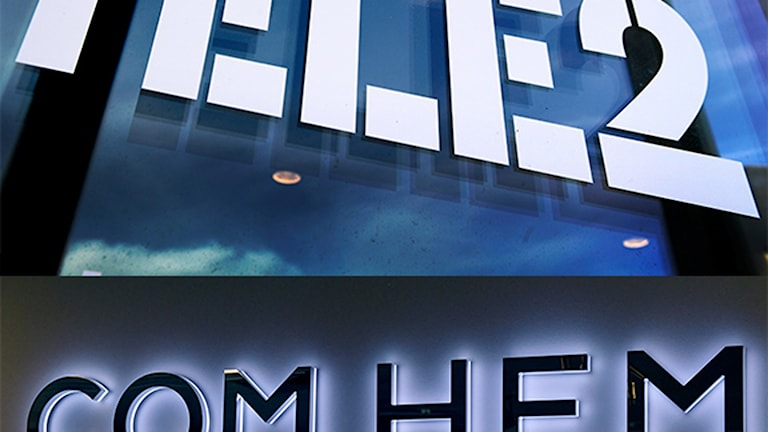 Logos of Tele2 and Comhem.
