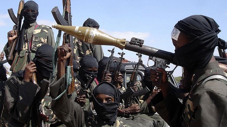 Barnsoldater från al-Shabab. Foto: Farah Abdi Warsameh/Scanpix.