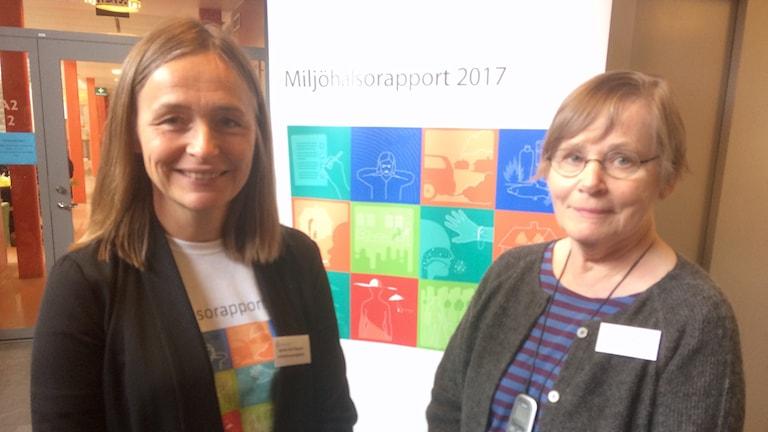 Agneta Falk Filipsson, enhetschef på Falkhälsomyndigheten och Carola Lidén, hudläkare och professor vid Karolinska institutet.