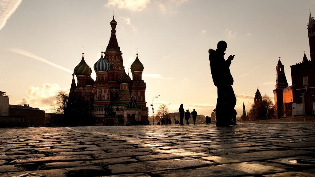 Vasilijkatedralen på Röda torget i Moskva